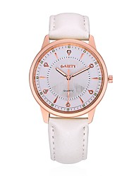Women's Dress Watch Fashion Watch Wrist watch Casual Watch Chinese Quartz Leather Band Candy color Charm Elegant Casual Black White Blue