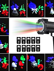 KWB Outdoor Christmas projector lights Multicolor Rotating LED Light Projection Waterproof Snowflake Spotlight-10PCS Pattern