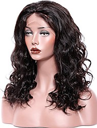 cheap -Remy Human Hair Lace Front Wig Brazilian Hair Wavy With Baby Hair 130% 150% 180% Density 100% Hand Tied Natural Hairline Medium Long