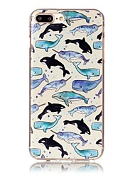cheap -For iPhone X iPhone 8 Case Cover Pattern Back Cover Case Animal Cartoon Soft TPU for Apple iPhone X iPhone 8 Plus iPhone 8 iPhone 7 Plus