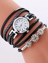baratos -Mulheres Relógio de Moda Bracele Relógio Quartzo PU Banda Legal Casual Preta Branco Rosa