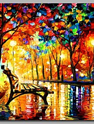 Night Park 100% Hand Painted Contemporary Oil Paintings Modern Artwork Wall Art for Room Decoration