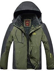 cheap -Men's Hiking Jacket Outdoor Winter Windproof Rain-Proof Waterproof Zipper Wearable Breathability Winter Jacket Top Full Length Visible