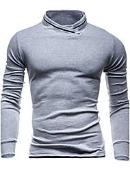 Sweatshirt Homme Sports Décontracté / Quotidien simple Actif Couleur Pleine Col Arrondi Micro-élastique Coton Manches longues Printemps