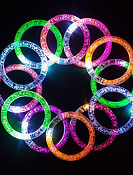 3PCS Fluorescence Stick / Electronic LED flash Bracelet / Light-emitting bracelet