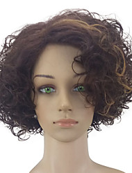 cheap -Synthetic Hair Wigs Curly Middle Part Highlighted/Balayage Hair Capless Party Wig Natural Wigs Medium Brown