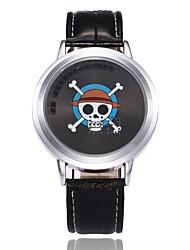 Per uomo Orologio sportivo Orologio alla moda Creativo unico orologio Cinese Digitale LED PU Banda Teschio Casual Creativo