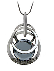 cheap -Women's Crystal Pendant Necklace - Fashion Gray, Light Blue Necklace For Party, Daily