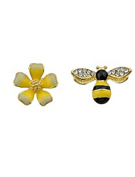 cheap -Women's Mismatched Drop Earrings - Flower, Bee Fashion Yellow For Daily / Casual
