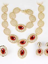 cheap -Women's Bangles Necklace Crystal Rhinestone Luxury Fashion Wedding Party Crystal Rhinestone Circle Drop Necklace Earrings Bracelets Ring