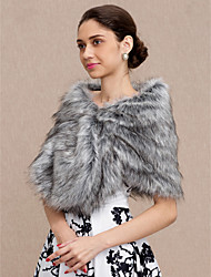cheap -Faux Fur Wedding Party / Evening Women's Wrap Shawls
