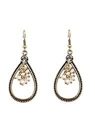 preiswerte -Damen Tropfen-Ohrringe - Personalisiert / Modisch Gold Oval Ohrringe Für Geschenk / Alltag
