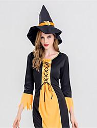 Sorcière Une Pièce Robes Adulte Halloween Fête / Célébration Déguisement d'Halloween Rétro