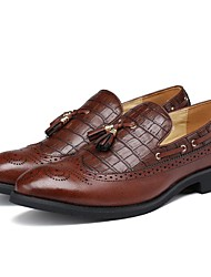 cheap -Men's Shoes Patent Leather Fall Winter Formal Shoes Loafers & Slip-Ons For Casual Party & Evening Red Brown Black
