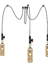 cheap -3 Heads 9W LED Warm Light American Country Retro Industrial Chandelier Living Room Restaurant Pendant Lights  Cafes Shops Light Fixture