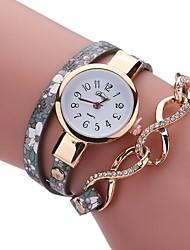 abordables -Mujer Cuarzo Reloj Pulsera Chino Gran venta PU Banda Encanto Vintage Casual Reloj creativo único Elegant Moda Negro Azul Rojo Gris Morado