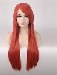 economico -Donna Parrucche sintetiche Senza tappo Lungo Lisci Arancione Parrucca Cosplay costumi parrucche