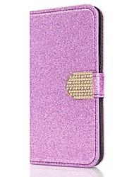 Недорогие -Кейс для Назначение SSamsung Galaxy S8 Plus S8 Бумажник для карт Кошелек Стразы со стендом Флип Магнитный Чехол Сплошной цвет Твердый
