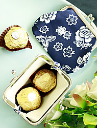 cheap -Cobalt Blue and White Coin Purse - Candy Favor Bag - 10 x 7.5 cm/pcs - Beter Gifts® Party Gifts Supplies
