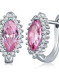 Women's Stud Earrings Cubic Zirconia Fashion Luxury Zircon Titanium Steel Taper Shape Jewelry For Party Casual