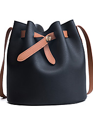 Women Bags All Seasons PU Shoulder Bag Pockets for Casual Outdoor Blue Black Gray Brown