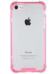 Недорогие -Назначение iPhone 7 iPhone 7 Plus Чехлы панели Защита от удара Задняя крышка Кейс для Прозрачный Твердый Акриловое волокно для Apple
