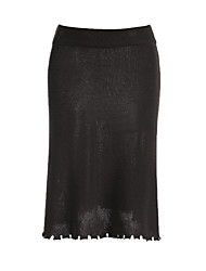 cheap -Women's Classic & Timeless Bodycon Skirts - Solid Colored
