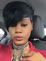 cheap -Synthetic Wig Straight With Bangs With Bangs African American Wig Black Women's Capless Natural Wigs Short Synthetic Hair