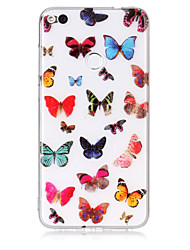 economico -caso per huawei p8 lite (2017) p10 lite telefono caso tpu materiale farfalla modello hd caso telefono p9 lite