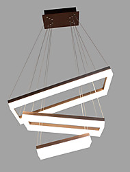 cheap -Remoter Dimming Led 90W Pendant Light Aluminium Coffee Gold Brushed for Living Room Modern Lighting