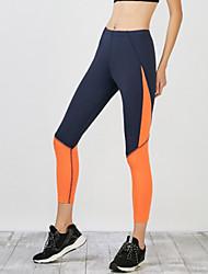 Damen Einfarbig Genähte Spitzen Legging