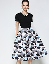 cheap -Women's Going out Knee-length Skirts A Line Polka Dot Print Fall