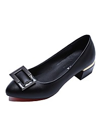 preiswerte -Damen Schuhe PU Sommer T-Riemen Flache Schuhe Blockabsatz Spitze Zehe Strass Für Kleid Weiß Schwarz Rosa