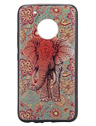 preiswerte -Koffer für Motorola Moto G5 plus Kofferabdeckung Elefantenmuster Relief zurück Deckel weich tpu