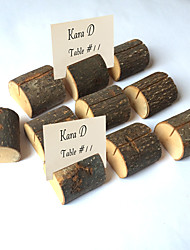 cheap -Wooden Ornaments Clips Placecard Holders Wedding Reception Chic & Modern
