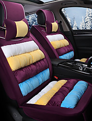 cheap -Rainbow Striped Plush Car Seat Cushion Material Winter Seat Cover Surrounded By AFive Seat-Violet
