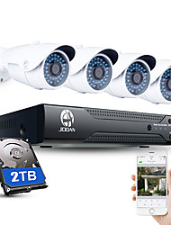 cheap -JOOAN® 4CH CCTV NVR System H.264 POE 1080P Video Output Waterproof IP Camera with 2TB HDD