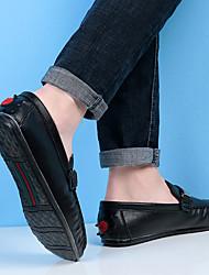 baratos -Homens sapatos Camurça Inverno Outono Solados com Luzes Conforto Sapatos de Barco Caminhada para Casual Branco Preto Marron