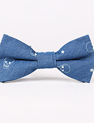 Men's Rayon Cotton Blend Bow Tie,Neckwear Vintage Work Casual Print All Seasons