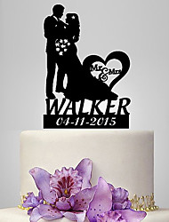 cheap -Cake Topper Classic Theme Romance Wedding Classic Couple Plastic Wedding With Poly Bag