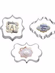 Недорогие -3шт Нержавеющая сталь + категория А (ABS) Нержавеющая сталь Для детской Антипригарное покрытие Инструмент выпечки Торты Печенье Для фруктов Формы для пирожных Инструменты для выпечки