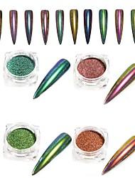 0.15g / bouteille paon miroir effet nail art poudre de paillettes