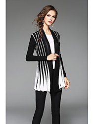 cheap -Women's Casual/Work/Plus Sizes Stretchy Medium Long Sleeve Cardigan (Cotton/Knitwear)SF7E01