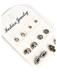 Women's Earrings Set Crystal Rhinestone Vintage Bohemian Rhinestone Alloy Hamsa Hand Elephant Jewelry For Casual Formal