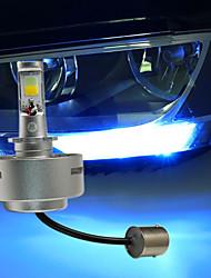 2pcs suteng conduit la lumière de la lumière de jour de course à la lumière double couleur blanc brillant et lumière bleue 8w cob dc12v