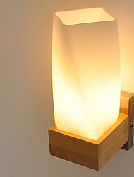 cheap -Simple / Country / Modern / Contemporary Wall Lamps & Sconces Wood / Bamboo Wall Light 220V 5W