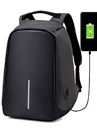 cheap -Men's Bags Canvas Backpack Zipper for Outdoor Black / Gray
