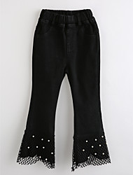 Girls' Embroidered Pants-Cotton Fall