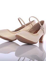 Для женщин Современный Дерматин На каблуках Для открытой площадки Каблуки на заказ Белый Персонализируемая