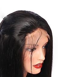 cheap -Human Hair Lace Front Wig / Glueless Lace Front Wig Peruvian Hair Straight With Baby Hair 130% Density Natural Hairline / For Black Women Women's Short / Medium Length / Long Human Hair Lace Wig